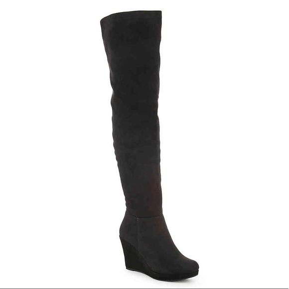 096c1da9cc33 Chinese Laundry Leah Wedge Over The Knee Boots 9